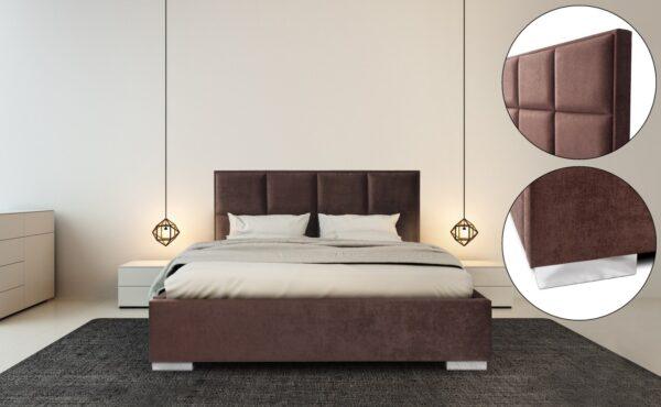 sevilla łóżko tapicerowane Italcomfort z pojemnikiem bez pojemnika kontynentalne