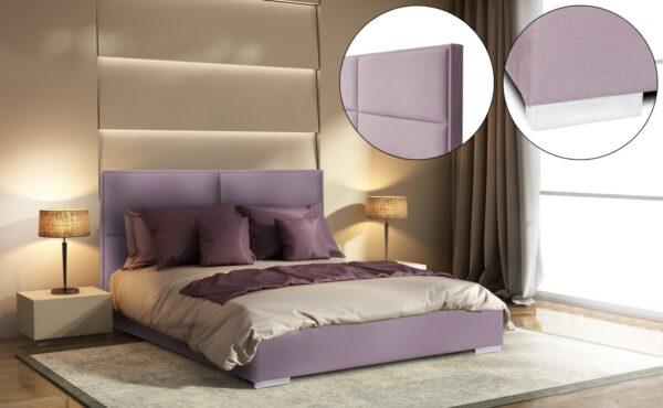 łóżko tapicerowane Denver Italcomfort łóżko z pojemnikiem na pościel, bez pojemnika na pościel, łóżko kontynentalne