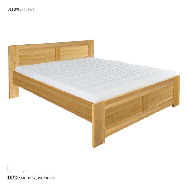 łóżko z litego dębu lk212 drewmax