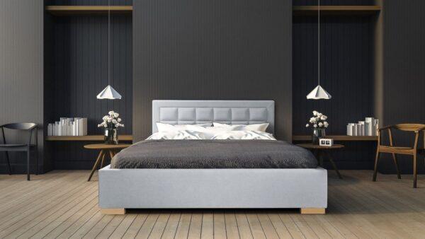 Łóżko Oslo z pojemnikiem na pościel Italcomfort tkanina Magic Velvet 2240
