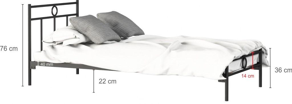 łóżko metalowe Walencja LakSystem
