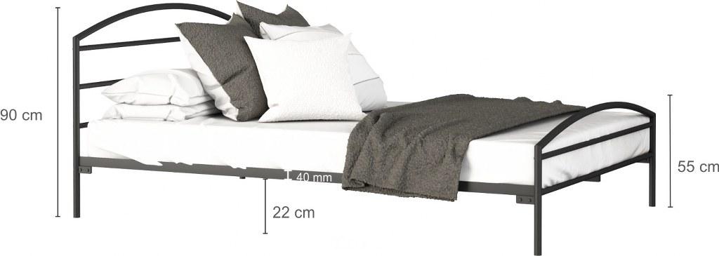 łóżko metalowe Toscania LakSystem