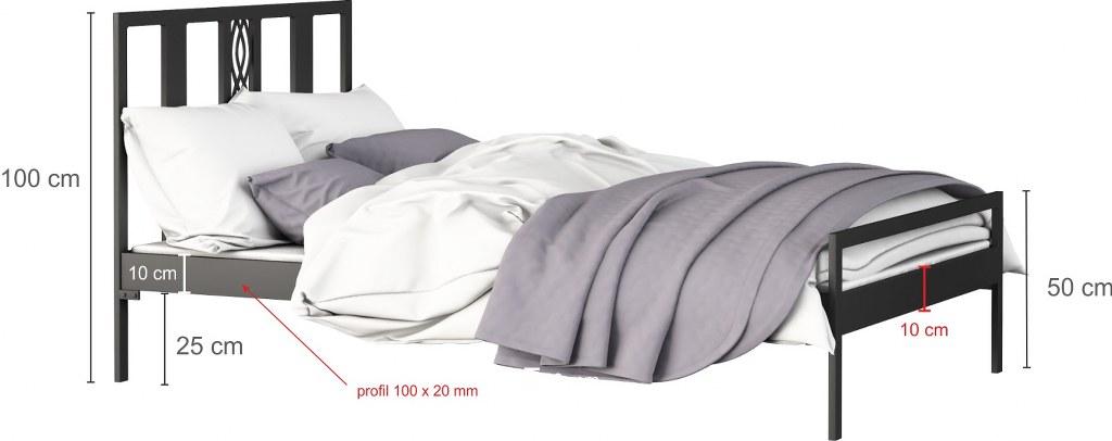 łóżko metalowe Paris LakSystem