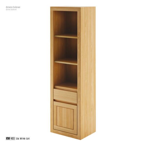 witryna kw 403 Drewmax witryna bukowa witryna drewniana biblioteczka drewniana