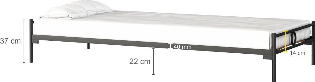dane techniczne łóżka metalowego Basic Laksystem