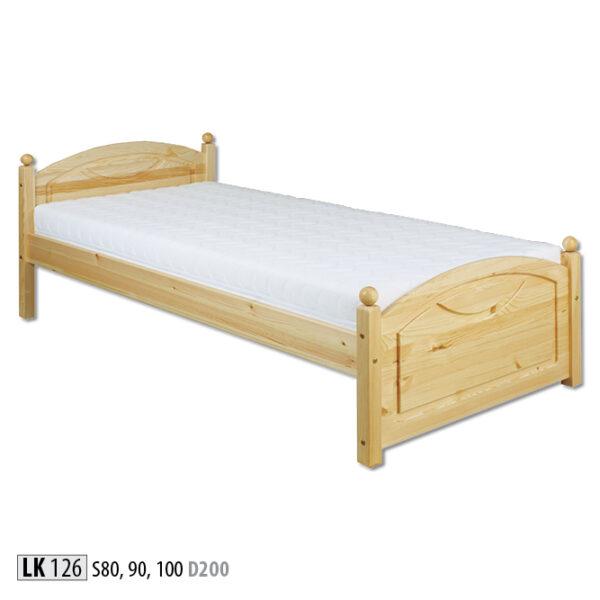 łóżko sosnowe pojedyncze LK 126 Drewmax