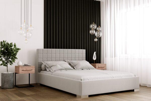 łóżko tapicerowane Baretta Matinee z pojemnikiem na pościel