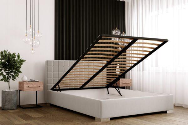łóżko tapicerowane Baretta Matinee z pojemnikiem