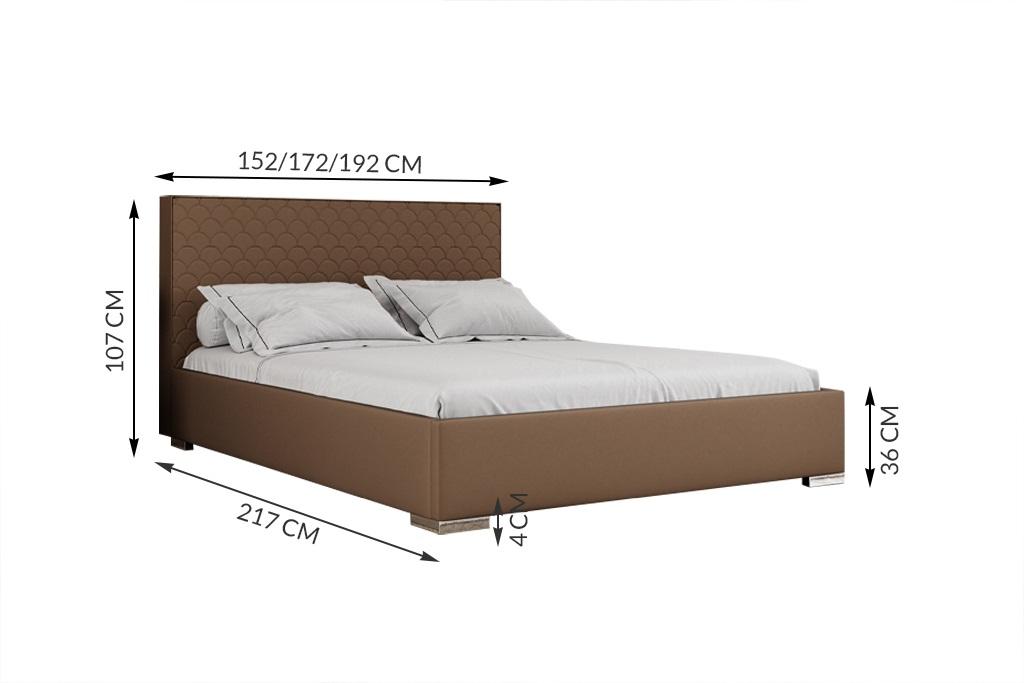 łóżko tapicerowane Poches Matinee