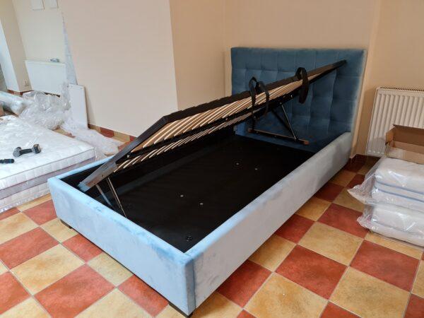 łóżko tapicerowane Croatia Italcomfort z pojemnikiem bocznie otwieranym 120x200