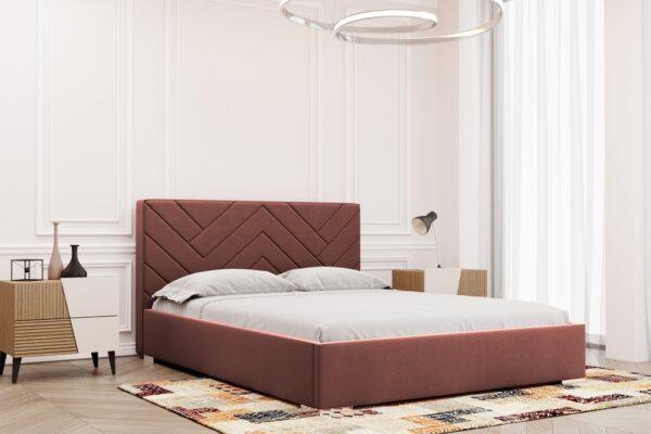 łóżko tapicerowane Babine Matinee z pojemnikiem na pościel szybka dostawa
