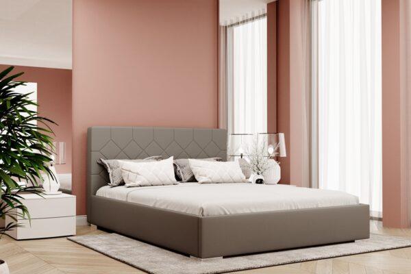 łóżko z pojemnikiem tapicerowane Chatel Matinee
