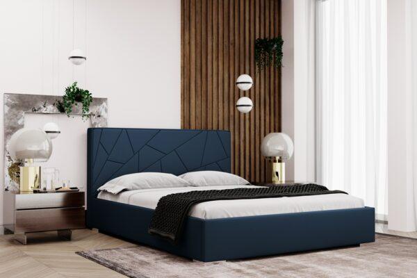 łóżko tapicerowane Terre Matinee z pojemnikiem na pościel